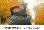 little pretty boy is hugging... | Shutterstock . vector #777676630