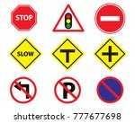 vector traffic sign icon danger ... | Shutterstock .eps vector #777677698