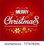merry christmas card | Shutterstock .eps vector #777678346