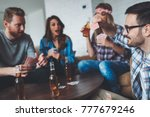 group of friends having fun... | Shutterstock . vector #777679246