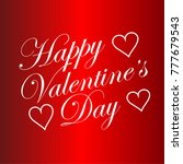 happy valentines day typography ... | Shutterstock .eps vector #777679543