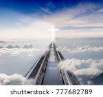 Railway Tracks Leading Among...