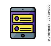 user experience   tablet blog  | Shutterstock .eps vector #777684370