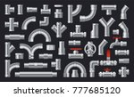 set of  details pipes different ... | Shutterstock .eps vector #777685120
