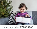 happy holidays and merry... | Shutterstock . vector #777685168