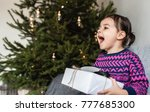 happy surprised pretty toddler... | Shutterstock . vector #777685300
