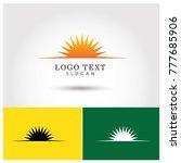 sunrise symbol   icon logo... | Shutterstock .eps vector #777685906