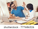nan spends time with son.... | Shutterstock . vector #777686326