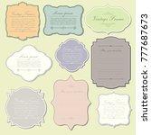 elegant vintage frame template   Shutterstock .eps vector #777687673