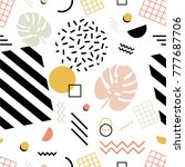seamless pattern with exotic... | Shutterstock .eps vector #777687706