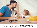 a man spends time with his son. ... | Shutterstock . vector #777687724