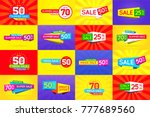 set of sale signs  banners ... | Shutterstock .eps vector #777689560
