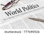 a newspaper with the headline... | Shutterstock . vector #777690526