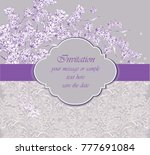delicate lace card with... | Shutterstock .eps vector #777691084