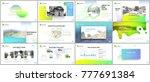 clean  minimal presentation... | Shutterstock .eps vector #777691384