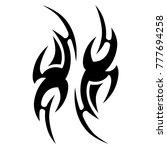 tattoo tribal vector design.... | Shutterstock .eps vector #777694258