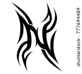 tattoo tribal vector design.... | Shutterstock .eps vector #777694489