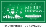 set of christmas icons in... | Shutterstock .eps vector #777696280