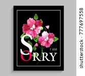 greeting card design with... | Shutterstock .eps vector #777697558