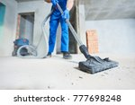 construction cleaning service.... | Shutterstock . vector #777698248