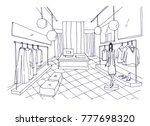 outline drawing of clothing... | Shutterstock .eps vector #777698320
