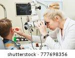 ear  nose  throat examining.... | Shutterstock . vector #777698356