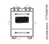 kitchen stove isolated vector... | Shutterstock .eps vector #777698749