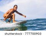 beautiful young brunette girl... | Shutterstock . vector #777700903