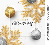 christmas background with... | Shutterstock . vector #777704884