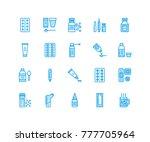 medicines  dosage forms line...   Shutterstock .eps vector #777705964