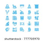 elderly care vector flat line... | Shutterstock .eps vector #777705970
