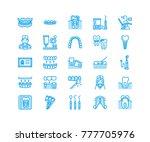 dentist  orthodontics line...   Shutterstock .eps vector #777705976
