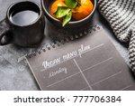 black ceramiv table ware tea... | Shutterstock . vector #777706384