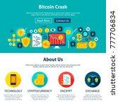 bitcoin crash website design.... | Shutterstock .eps vector #777706834