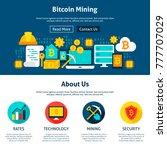 bitcoin mining website design.... | Shutterstock .eps vector #777707029