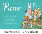 hand drawn banner  poster ...   Shutterstock .eps vector #777710980