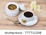black coffee with flavor of... | Shutterstock . vector #777711208