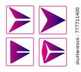 set of purple style arrow next...
