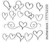 set of flourish calligraphy... | Shutterstock . vector #777712153