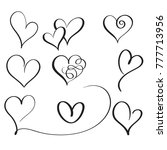 set of flourish calligraphy... | Shutterstock . vector #777713956