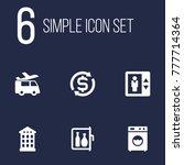 set of 6 motel icons set... | Shutterstock .eps vector #777714364