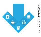 set of 5 beverages icons set... | Shutterstock .eps vector #777716926