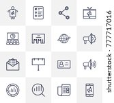 set of 16 trade outline icons... | Shutterstock .eps vector #777717016