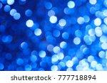 blue background abstract bokeh... | Shutterstock . vector #777718894