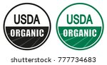 organic  natural product logo... | Shutterstock .eps vector #777734683