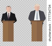 presidential speaks to people... | Shutterstock .eps vector #777734734