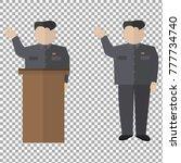 presidential speaks to people... | Shutterstock .eps vector #777734740