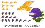 dinosaur game character for... | Shutterstock .eps vector #777735514