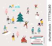 small people vector... | Shutterstock .eps vector #777736180