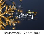 christmas background with... | Shutterstock . vector #777742000